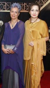 maheen khan with zeba bukhtiar in maheen khan