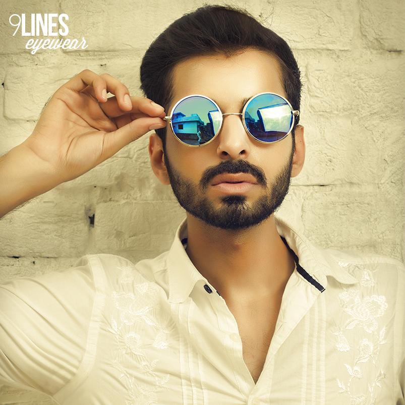 Blue Mirrored Round Sunglasses « Musings of a fashion designer a701a0e274a