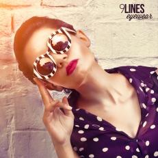 Round Striped Sunglasses for women