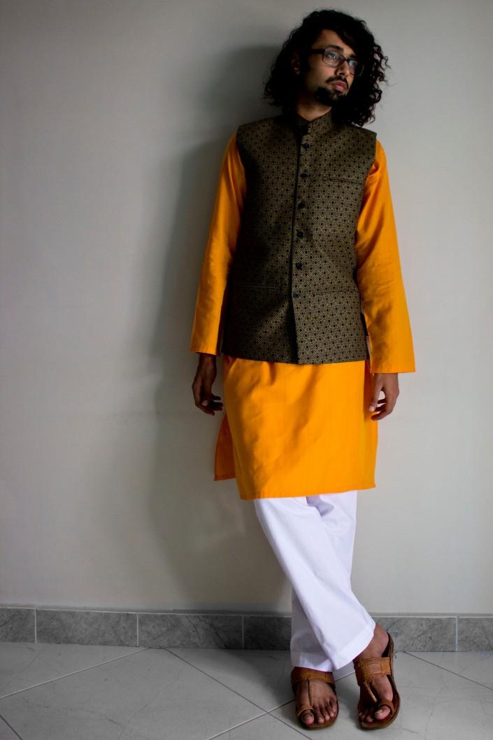 saffron kurta