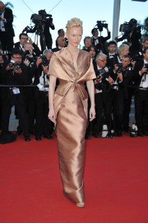 "CANNES, FRANCE - MAY 16: Actress Tilda Swinton attends opening ceremony and ""Moonrise Kingdom"" premiere during the 65th Annual Cannes Film Festival at Palais des Festivals on May 16, 2012 in Cannes, France. (Photo by Pascal Le Segretain/Getty Images)"